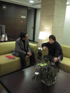 Un Momento de la entrevista en el Hesperia Lucentum de Alicante